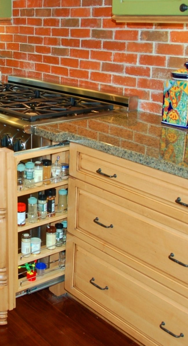 Spice Drawer Detail